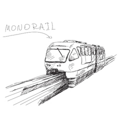monorail train vector image