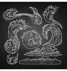 Ocean waves collection vector