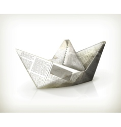 Paper boat vector image vector image