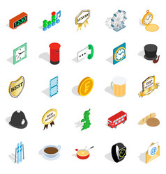Period icons set isometric style vector