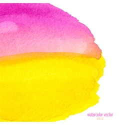 Pink and yellow watercolor squarer background vector