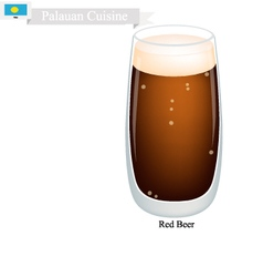 Red beer a popular dink in palauan vector