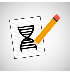 science laboratory molecule dna graphic vector image