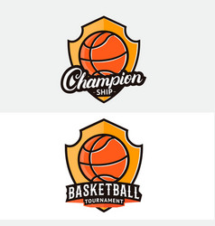 Set of basketball logo label badge emblem vector