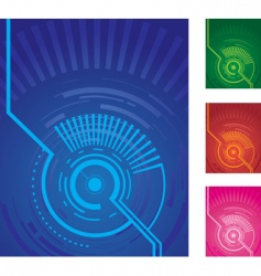 technical backgrounds vector image vector image