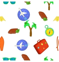 Tourism at sea pattern cartoon style vector image vector image
