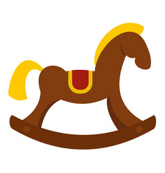 Toy horse icon isolated vector