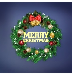 Traditional Christmas wreath vector image