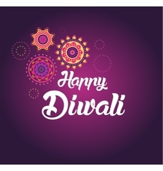 Happy diwali greeting card for indian festival vector