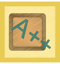 Flat shading style icon exam score excellent vector
