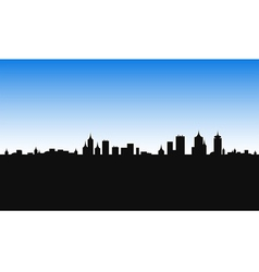 city building morning vector image