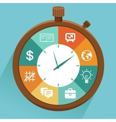 Flat concept - time management vector