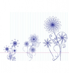 Flower doodles vector