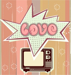 Love television vector