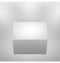 3d isolated empty podium vector image