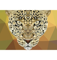 Polygonal leopard design vector