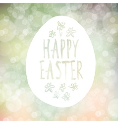 Easter greeting on bokeh background vector