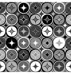 Black and white geometric seamless backgroud vector image