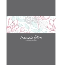 Modern line art florals stripe frame vector