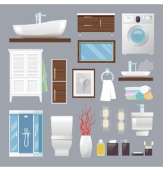 Bathroom furniture flat vector