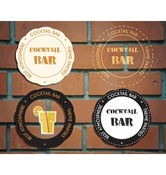 Lounge cocktail party badges and logo templates vector