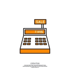 Abstract background with the cash register vector