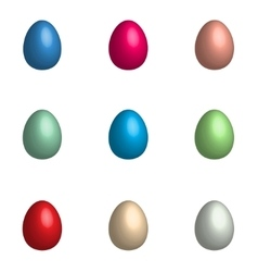 Easter background with eggs set vector