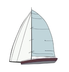 Boat with sails vector image