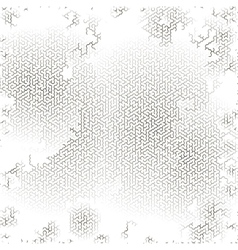 Gray labyrinth background kids maze vector