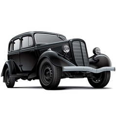 Old fashioned soviet car vector