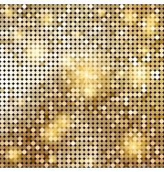 Golden shiny mosaic in disco ball style vector
