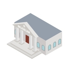 Museum icon isometric 3d style vector