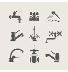 water-supply faucet mixer vector image