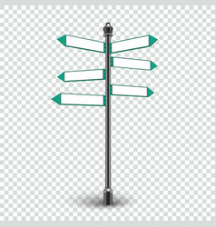 Blank Direction arrows signs for copy space vector image vector image