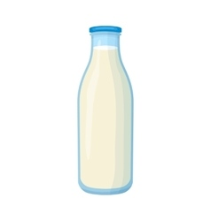 Bottle of milk icon cartoon style vector image