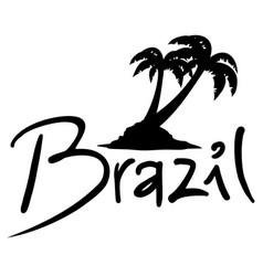 Brazil palm vector