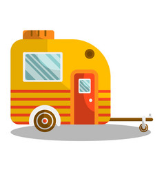 camper trail of camper bus of van vector image vector image