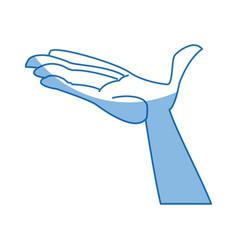 cartoon hand man open palm vector image vector image