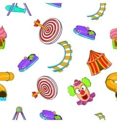 Children rides pattern cartoon style vector