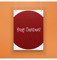 Chistmas paper hanging red page with snowflakes vector