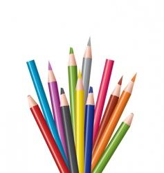 Coloring in pencils vector