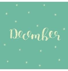 December Brush lettering vector image
