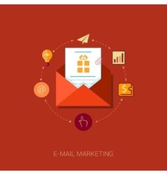 E-mail news letter and publisc relation flat icon vector