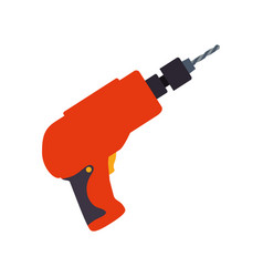 electric drill tool vector image vector image