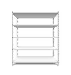 empty storage shelf vector image vector image