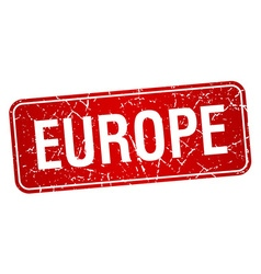 Europe red stamp isolated on white background vector