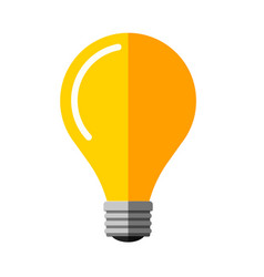 flat light bulb idea symbol vector image