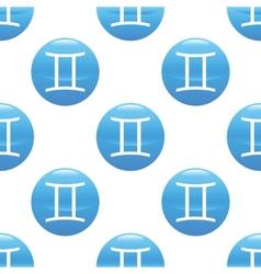 Gemini sign pattern vector image