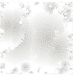 Gray labyrinth background kids maze vector