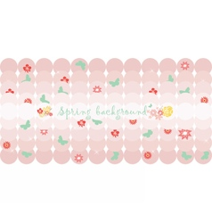 Hello spring card or invitation vector